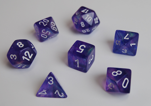 Borealis Polyhedral Purple/white